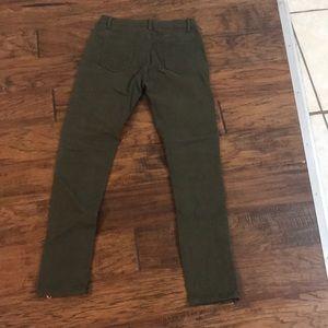 Pants - Olive Moto Jeans